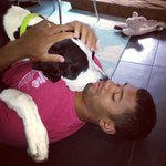 We love #RussellWilson and Russell Wilson loves his dog. #Gohawks #SeahawksCamp http://t.co/GCTC4L4UCz