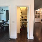 A space saver for us was this pantry now located under the stairs. Renovation construction by @BeechamGroup #Atlanta http://t.co/VwRa01xu3X