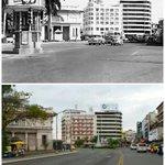 Foto comparativa de la Plaza 5 de Mayo. La foto superior es de los años 40. #panama http://t.co/iej6JgxgF3