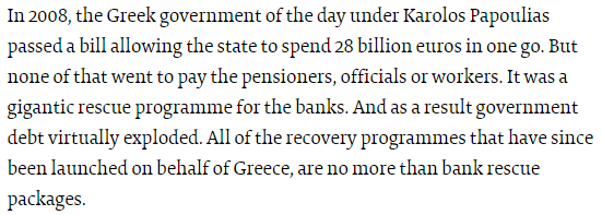 Varoufakis: All recovery programmes on behalf of Greece, are no more than bank rescue packages http://t.co/uumuoEcmBk http://t.co/b5O9NDUE0S