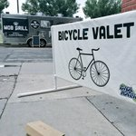 Bike valet directly across from @MOBGrill tonight @h_n_8th . Coincidence, I think not! http://t.co/1RUQFQKMdD