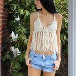 white Fringe halter top, crochet fringe top, crochet halter top,… https://t.co/q23gxATuq7 #boho, #crochet #SummerTop http://t.co/Rs44Pj4jMW