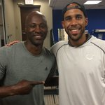 Look who just got here! @DAVIDprice14 with new teammate @LaTroyHawkins32. Welcome to the 6ix! http://t.co/HW3bSrFeCO
