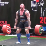 """ICYMI: """"The Mountain"""" from Game of Thrones defended his """"Europes Strongest Man"""" title. WATCH: http://t.co/mtArYsX5vB http://t.co/9mKssCDWQN"""
