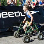 ICYMI: 8-yr-old with cerebral palsy ditches his walker & finishes triathlon unassisted. WATCH: http://t.co/c5jfi03XT8 http://t.co/mQchzl34Pe