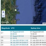 There have been SEVERAL smaller quakes off QLD in past 3days prior to todays Mag. 5.7 Quake in SEQ @9NewsBrisbane http://t.co/u3Z05S97ls