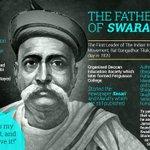 RT @newsflicks: The Father of Swarajya #BalGangadharTilak #LokmanyaTilak