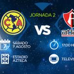 Mañana | J2 | #AP2015 | @CF_America vs @atlasfc | 17:00Hrs | Estadio Azteca | #JuntosPorLaGloria http://t.co/KKFPV9trgr