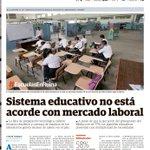 #Portada #EscuelasEnRuina Sistema educativo no está acorde con mercado laboral. #EconomiaPA http://t.co/saM2Sq4H8c