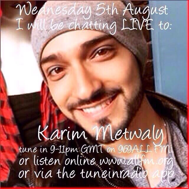 Looking forward to chatting to @KarimyScreamy next weds: http://t.co/9IXcdBAjKM