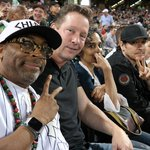 .@SpikeLee, D.B. Sweeney & John Cusack picked a great night for some #Yankees baseball. #PinstripePride http://t.co/TEvlv6mwsD