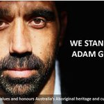 We stand together today for a just, fair and inclusive Australia #WeStandWithAdam #auspol #AFLSwansCrows #37 http://t.co/6ObUqTvOYS