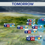WEATHER: Warm day tomorrow. Brisbane expecting a top of 26°C, Ipswich 27°C and Gold Coast 25°C #9News http://t.co/S9ID1gwg5z