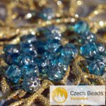 Blue Turquoise Silver Czech Cathedral Beads Faceted Turquoise Glass Beads Czech Glass ... http://t.co/MO64Ml1NCD http://t.co/1Q9PmI4Ceb