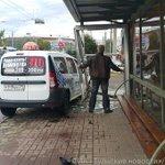Водитель такси протаранил пешеходную остановку в Туле 1 августа в 7.40 в районе ул. Советско http://t.co/g0w0PU295u http://t.co/6rhND9dzqe