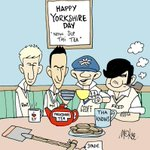 Happy #YorkshireDay everyone with some cricket legends @joeroot05 @MichaelVaughan @YorkshireTea #TheAshes2015 http://t.co/qBxDF4YCr8