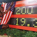 1996 #OnThisDay at Centennial #Olympics @MJGold #200m #WorldRecord 19.32 Olympic Stadium #Atlanta (@GettyImages) http://t.co/3PqqBYwqv3