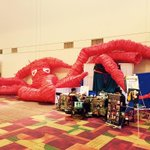 1 artist is making this ballon creature @ #GenCon2015 - Theyre taking bids for tearing it down - $ goes to charity. http://t.co/8gLxINaVKY