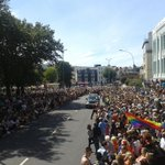 Crowds waiting for the parade on the Old Steine! #BrightonPride #Brighton http://t.co/6GkgsjpACz