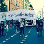 Kriminalvården gör sig redo för att tåga i årets Stockholm Pride Parad! #KRIMvård #sthlmpride http://t.co/PcjNZFoSg5