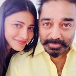 On the sets of thoongavanam with my Bapuji !!!!such a fun day !!! http://t.co/PBQ8CrhOLQ