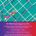 Catch us in the @PRIDEPEI #PrideParade today! Happening downtown Charlottetown starting at 1PM! #PEIPride http://t.co/gSTwZ8xK1G