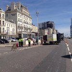 The cordon continues on Brighton seafront after a suspect package was found. http://t.co/eiHaoT8Nin