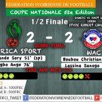 #COUPE #NATIONALE2015 #DEMI #FINALE #AFRICA-#WAC Victoire de lAfrica par 5 tirs a 4 .LAfrica est en Finale http://t.co/AwllZ7o2IC