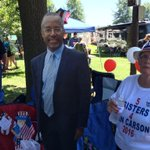 Ben Carson supporters bring presidential campaign to #FancyFarm. Settling for a cutout instead of the real thing. http://t.co/a60enCLMHi