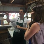 .@AlisonForKY presented with engraved meat cleaver to chop mutton & pork at #FancyFarm. #KyGov @WHAS11 http://t.co/cWZFTugWG4