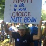 @MattBevin supporter at #fancyfarm http://t.co/TS0q5yAsj0