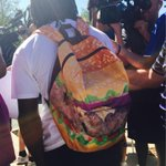 """TY Hilton is wearing a hamburger backpack today. Why? """"Because Im ready to eat."""" http://t.co/crmKvPYegD"""