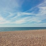 Nice and quiet along here in #Hove. #Beautiful sky today. #Brighton #Sea #Beach #Peaceful #Pebbles #BlueSky #Summer http://t.co/MHuOP93k6P