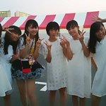 Party Rocketsの史夏さんとお写真撮っていただきました。ありがとうございました。#TIF #パティロケ #桜エビ http://t.co/8BsoObwjvj