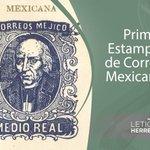 En 1856. Con valor de medio real y la imagen de Miguel Hidalgo, circulaba la 1ª estampilla de México. #FelizSabado http://t.co/9tKw14Tuks