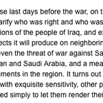 Know opponents of #IranDeal better: What Bill Kristol said in March 2003, when he was a vocal advocate for Iraq war. http://t.co/4W4H3HC471
