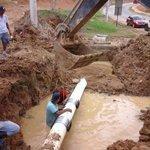 """Reparación de daño de línea de 12"""" en Parques del Oeste, Arraiján, fase final. Afectados sectores de JD Arosemena http://t.co/0iyQFnqRU1"""