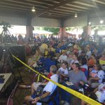 Folks already claiming their seats at #fancyfarm http://t.co/OEur6fdUg1