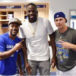 .@JimmyRollins11, @Money23Green and @yungjoc650. #Dodgers #Warriors http://t.co/mqMMwlLcC0