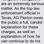 Statement from @ChrisGTurner regarding Attorney General Ken Paxton @nbcdfw @ScottGordonNBC5 http://t.co/ypkbbqLHqh