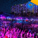COLONY invasion in @Creamfields_IBZ at @ushuaiaibiza tower in #ANTS15 #CreamfieldsIbiza http://t.co/aFNDrP13HQ