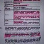 """@nataliaspringer, otra contratista del negocio de la """"paz"""". Partida de hps engañando al pueblo. @JuanManSantos http://t.co/loSmH98r5V"""