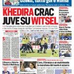 La #primapagina di oggi: - Khedira crac, #Juve su Witsel - Dzeko, tutto gol e #Roma http://t.co/tre0yHpnBI http://t.co/8UFr4Udfvu