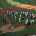 Moving: 1965 #MNTwins throw first pitches & greet current team. Took 4 tries to say, Thats pretty cool to my kid http://t.co/xx4LpTUYwY