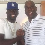 #Warriors Draymond attends #Dodgers game with Magic Johnson http://t.co/iWUtPrA7Ik #SFGiants #Athletics http://t.co/Paml2dLXqX
