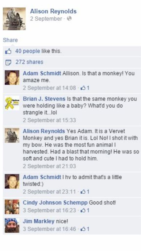 #AlisonReynolds #Monster She and those other names on the photo need to be shamed! PLEASE RETWEET http://t.co/BBfg0fRv7a