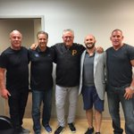 Always good to see Clint Hurdle. Caught up with him here with Jerry Haffey, Marc Chiurato and Joey Morrison. http://t.co/6TLxbB0Eow