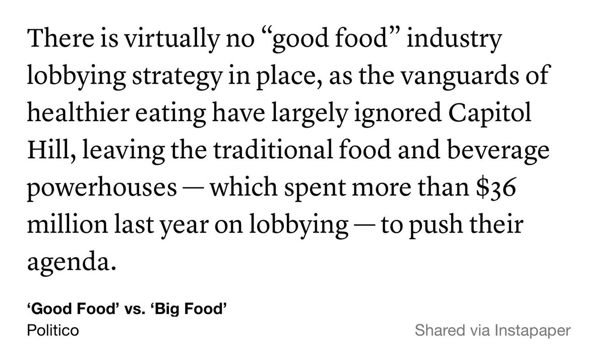 Good piece @politico. #bigfood  http://t.co/pILfoeu0ti http://t.co/ItVHrI1QnL