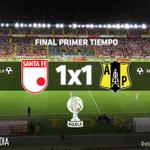 45+2 |1x1| #SFExPET: Finaliza con empate el primer tiempo en el @NemesioCamacho http://t.co/85RyOHQbuf