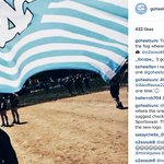 Tar Heels are proud to carry the flag wherever they go.  📷: https://t.co/gchlFDeonw http://t.co/Up29JHBnqA